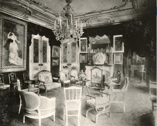 Grand salon de l'appartement de Paul Durand-Ruel, sis 35 rue de Rome à Paris, vers 1900-1910 ; photo Archives Durand-Ruel © Durand-Ruel & Cie.