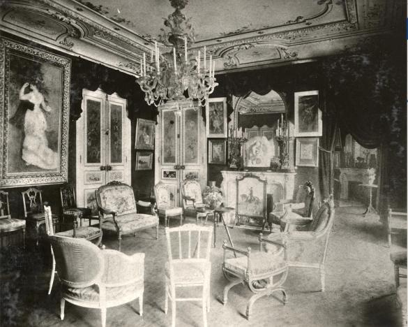 """salon-""""Show room"""" dans l'appartement de Paul Durand-Ruel photo Archives Durand-Ruel © Durand-Ruel & Cie."""