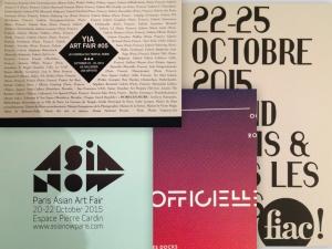 Foires d'art contemporain / Octobre 2015