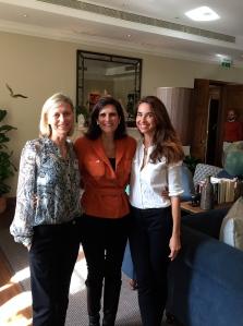 Flavie Durand-Ruel avec Marie- laure de Clermont Tonnerre et Anne Pierre d'Albis , Spirit now!