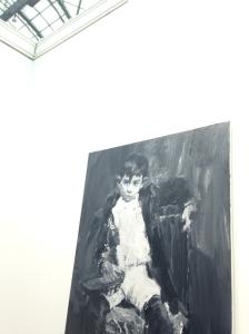 """Yan Pei Ming """"Picasso à Malaga"""" 2015. HST. 150X100 cm Galerie Thaddaeus Ropac Fiac 2015"""
