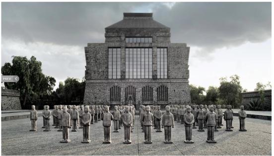 Prune Nourry Terracotta Daughters Musée Diego de Rivera Anahuacalli- Mexico ©Marisa Veléz