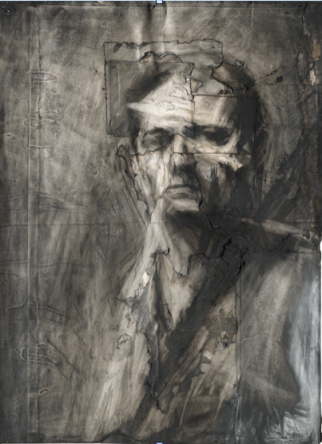 Self-Portrait 1958 Charcoal and chalk on paper 768 x 565 mm Courtesy of Daniel Katz Gallery, London © Frank Auerbach, courtesy Marlborough Fine Art