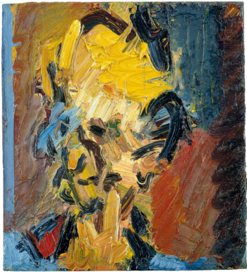 Head of William Feaver 2003 Oil on board 451 x 406 mm Collection of Gina and Stuart Peterson © Frank Auerbach, courtesy Marlborough Fine Art