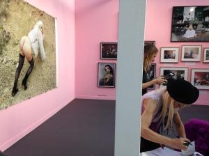 "Delphine Balley ""Album de famille"" Galerie Suzanne Tarasieve Paris Photo 2015 ©Thegazeofaparisienne"