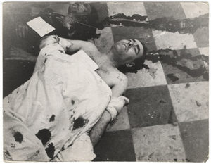 Garda Taro, La morgue de après les bombardements , Espagne 1937 ©Gerda Taro © International Center of Photography 1937