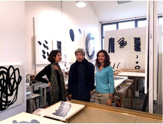 Avec Lee Bae dans son atelier Parisien ©Thegazeofaparisienne