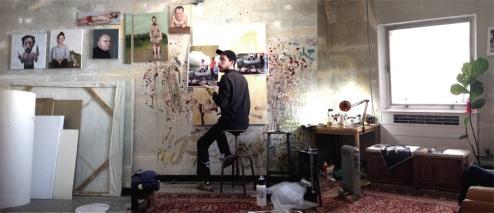 François Malingrëy dans son atelier