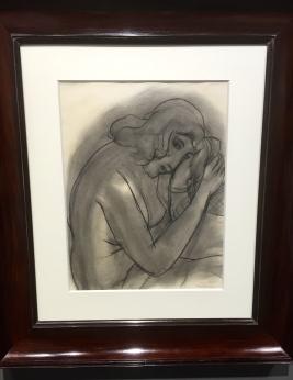 Matisse Portrait d'une femme pensive 1944, Fusan sur papier ©Thegazeofaparisienne