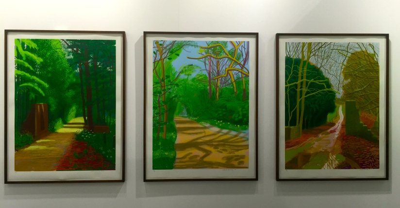 David Hockney The arrival of Spring Woldgate, 2011 140x105 each ©Thegazeofaparisienne