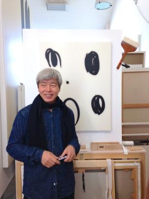 Korean artist, Lee Bae in his Parisian studio. ©Thegazeofaparisienne