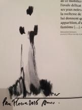 Aurore de La Morinerie Ma dédicace sur mon catalogue de l'exposition.