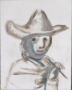 """""""Le jeune peintre"""" 1972 Huile sur toile 91 X 72,5 cm © Succession Picasso 2015. © RMN-GP/René Gabriel Ojéda"""