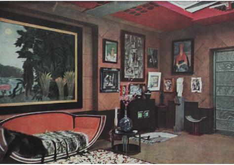 Studio Saint-James, demeure de Jacques Doucet, à Neuilly-sur-Seine, c. 1930 Image parue dans L'Illustration , N°484