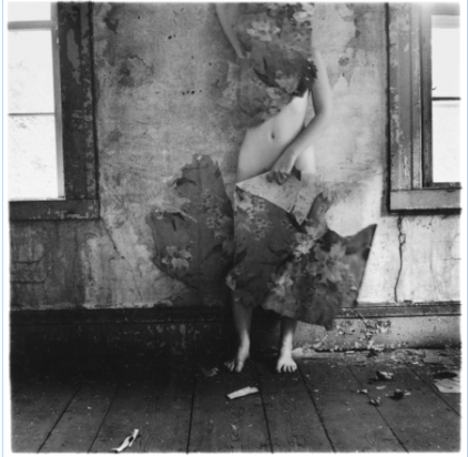 Francesca Woodman, Space 2, Providence, Rhode Island, 1976, Gelatin silver print, 13.7 x 13.3 cm, Courtesy George and Betty Woodman , © George and Betty Woodman