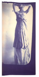 Francesca Woodman Caryatid, New York, 1980 Diazotype, 227.3 x 92.1 cm © George and Betty Woodman