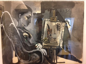 """""""Jacqueline dans l'atelier"""" 1957 - Dation 1979"""