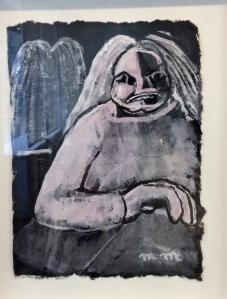 "Martine Martine (née en 1932) ""Balzac, carnet mémoires X , feuille 3 2015"