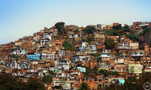 la Favela Morro da Providência, Rio de Janeiro, Brésil, 2008 © Photo JR