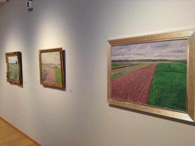 """Au premier plan """"Les champs, plaine de Gennevilliers, étude en jaune et rose"""" 1884 ©TheGazeofaParisienne"""