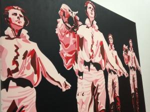 """Gérard Fromanger """"Le rouge et le noir dans le prince de Hombourg"""" 1965"""