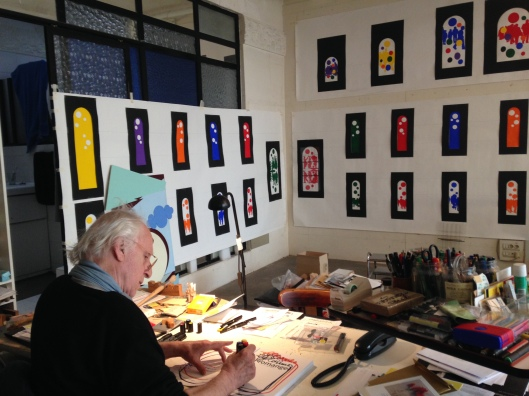 Gérard Fromanger dans son atelier ©TheGazeofaParisienne