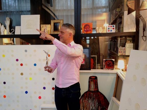 Ma2f dans son atelier