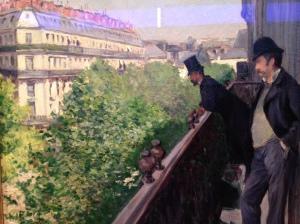 "Gustave Caillebotte ""Un balcon boulevard Haussmann"" 1880"