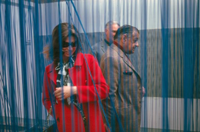 Serge Poliakoff et Marie Helen Poliakoff à la Fondation Maeght ©AlexisPoliakoff
