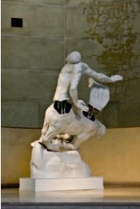 Centaure mourant 2.0, Alain Séchas, 2008, Polyester et électromécanismes 320x300x250 cm. Collection du Musée Bourdelle, Ville de Paris, France, crédit photo : Florian Kleinefenn