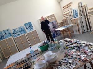 Alain Séchas dans son atelier ©TheGazeofaParisienne