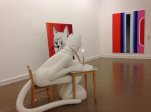 """Alain Séchas """"Le chat écrivain"""" 1996 Musée d'art moderne ville de Paris ©TheGazeofaParisienne"""