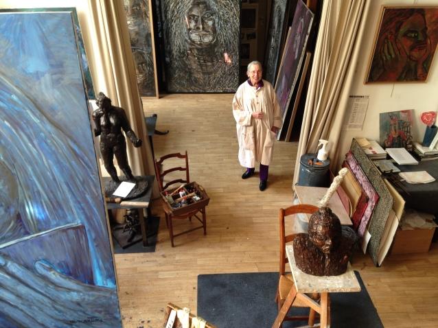 Martine Martine dans son atelier ©TheGazeofaParisienne