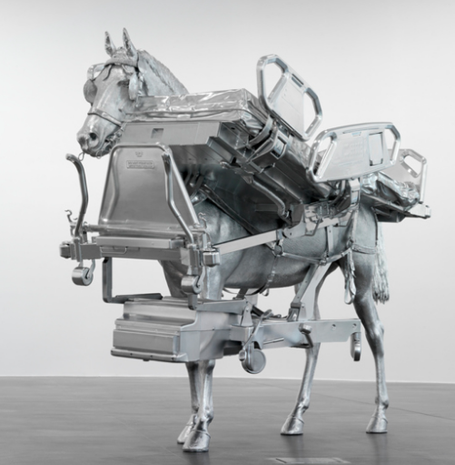 Urs Fischer, Horse/Bed, 2013 ©Urs Fischer