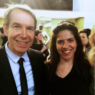 Jeff Koons et Leticia Amas (galerie espace_L) au vernissage