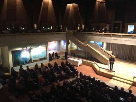 Zao Wou-Ki fondation Gianadda- Inauguration par D. de Villepin. Décembre 2015 ©TheGazeofaParisienne