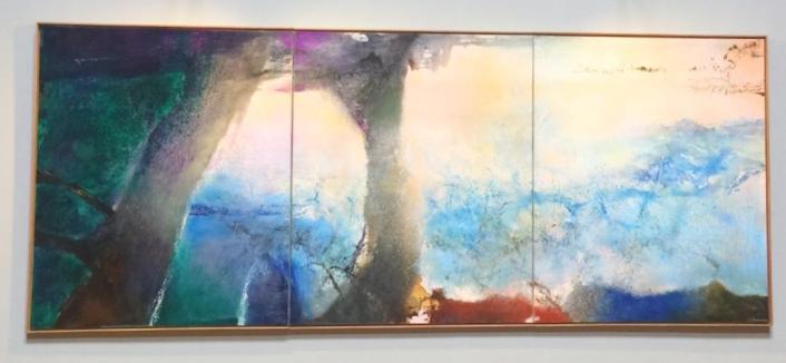 Hommage à Claude Monet, 1991 194x484 cm ©TheGazeofaParisienne