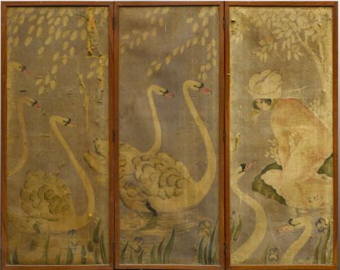 N°107 Georges Manzana Pissaro Paravent à 3 feuilles. 156 x 63 Est : 300/400