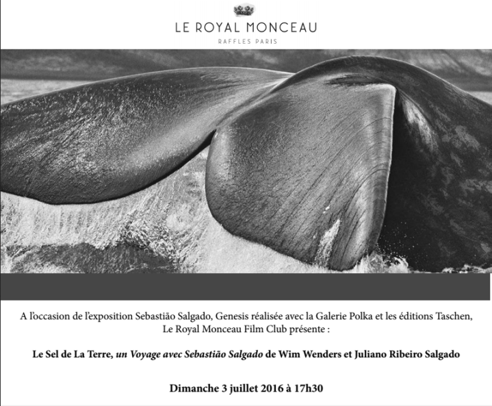 flyer de la projection du 3 juillet au Royal Monceau film club.