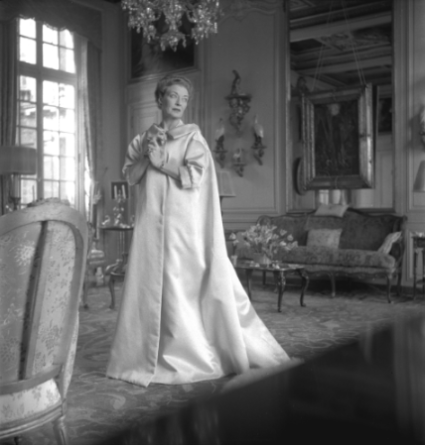 Mona Bismarck in front of the present work at the Hôtel Lambert,1955. Photograph by Cecil Beaton