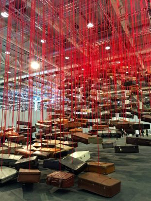 "Chiharu Shiota ""Accumulation: Searching for Destination"" , Art Unlimited - Galerie Daniel Templon ©Thegazeofaparisienne"