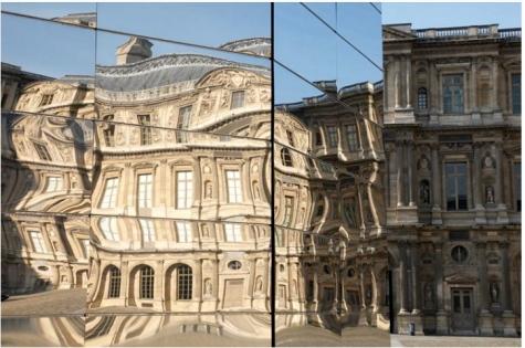 Eva Jospin – Panorama, cours carrée du Louvre, Paris © Eva-Jospin – Architecture Outsign – Courtesy Noirmontartproduction – Musée du Louvre – Antoine Mongodin