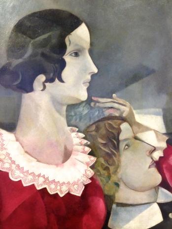 """""""Les Amoureux en gris"""" 1916-1917 Huile sur carton marouflée sur toile"""
