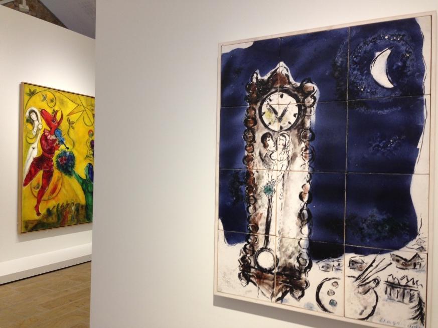 """""""L'horloge"""" 1950-52 Céramique murale, 12 carreaux ©Thegazeofaparisienne"""