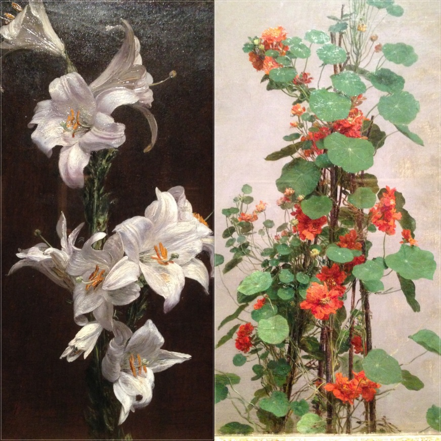 """""""Branche de lys"""" 1877 """"Capucines doubles"""" 1880 Victoria et Albert Museum"""