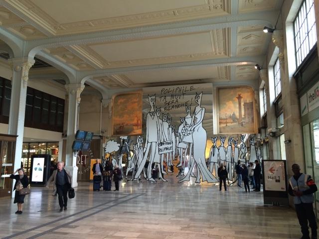 """Alain Séchas """"En attendant Poliphile"""" Gare de Lyon"""