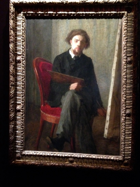 """Autoportrait assis devant son chevalet"" Berlin National Galerie"