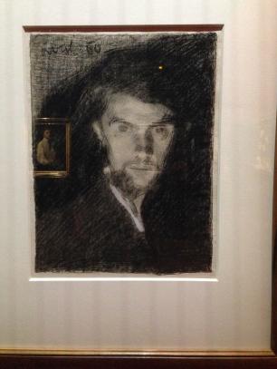 """""""Autoportrait"""" 1860 Crayon Lille Palais des Beaux Arts"""