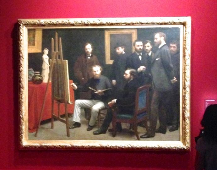 """""""Un atelier aux Batignolles"""" 1870 Musée d'Orsay"""