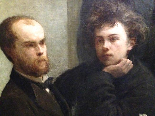 """""""Verlaine et Raimbaud"""" détail de la peinture """"Coin de table"""""""